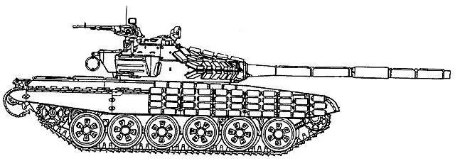 T-72AV main battle tank technical data sheet