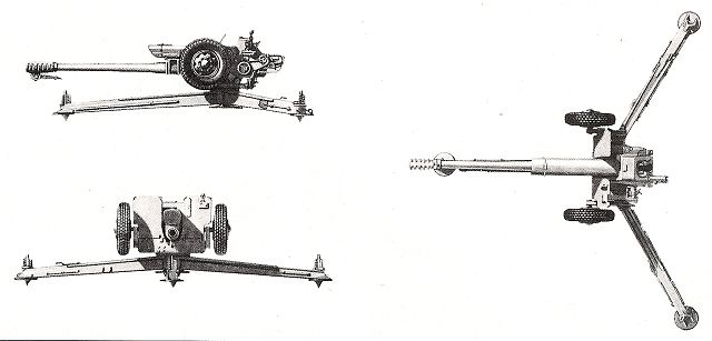 D-30 122 mm towed howitzer technical data sheet