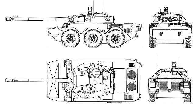 AMX-10RC reconnaissance anti-tank wheeled armoured vehicle