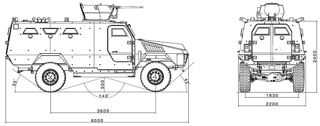 Bastion APC ARQUUS Acmat 4x4 wheeled armored personnel