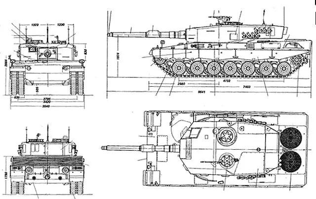 Leopard 2A4 MBT Main Battle Tank technical data pictures