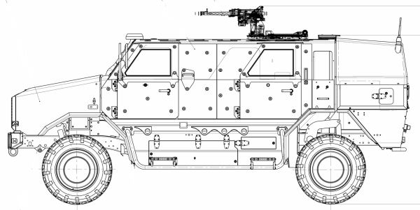 Dingo 2 wheeled armoured vehicle personnel carrier data