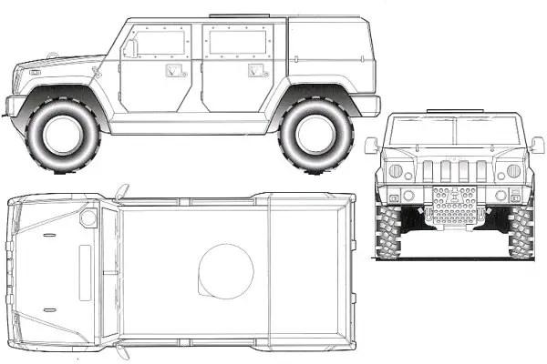 LMV Iveco Defence Vehicles Light Multirole wheeled