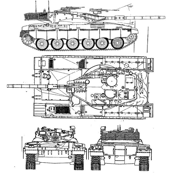 Merkava 1 char de combat principal israel israelien fiche