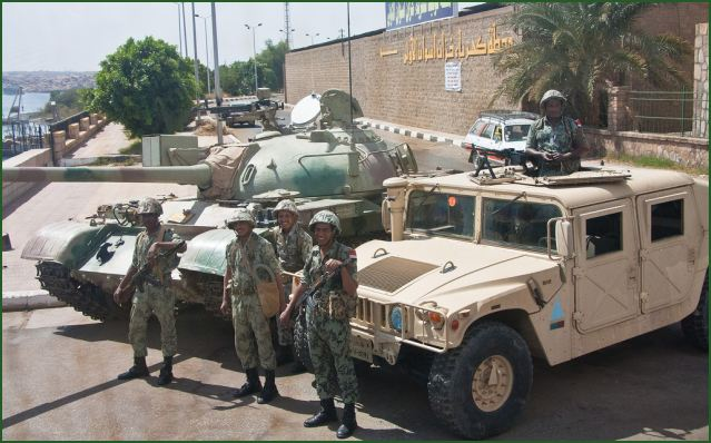 Large military operation for the Egyptian army against armed