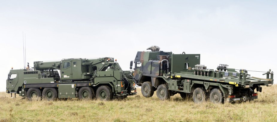 Liebherr ships first mobile and recovery cranes to the Bundeswehr 2