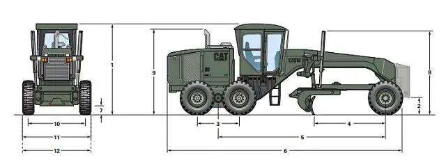 120M MG Motor Grader military engineer protected vehicle