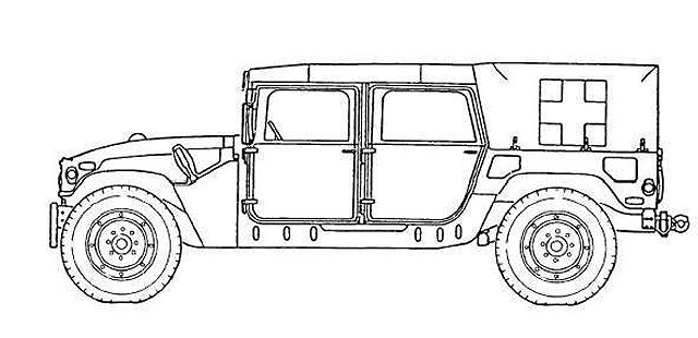 M1035A2 Humvee HMMWV ambulance vehicle technical data