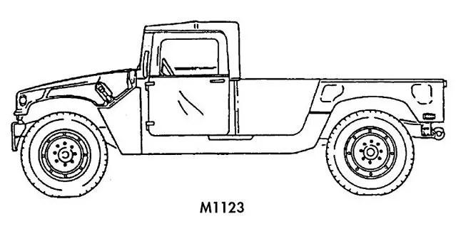 M1123 HMMWV Humvee cargo troop carrier technical data