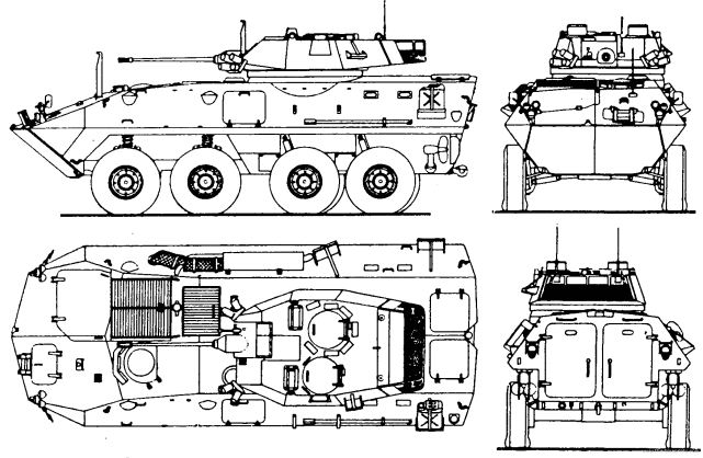LAV-25 8x8 light armoured vehicle technical data pictures