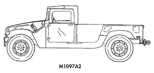 M1097 M1097A1 M1097A2 HMMWV Humvee heavy shelter carrier