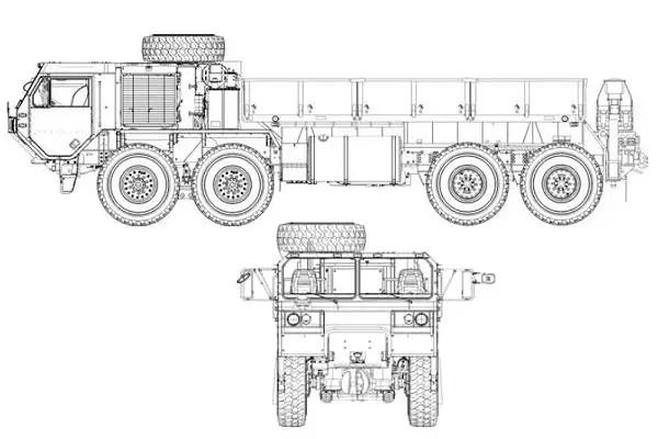 M977 A4 HEMTT Oshkosh Military Cargo Truck data sheet