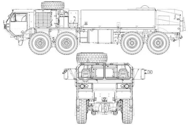 M978 A4 HEMTT Oshkosh military fuel servicing truck tanker
