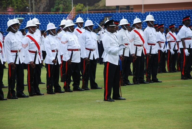 Grenada Police Army ranks military combat field uniforms