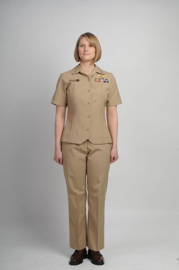 Navy Women Stylish Uniform Slacks