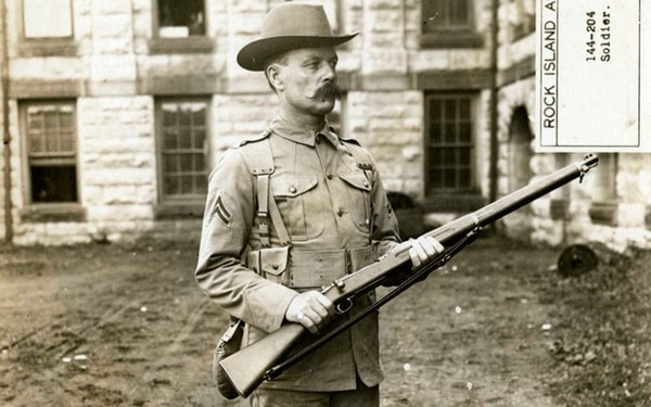 Soldier with a M1903 rifle. (U.S. Army Center of Military History)
