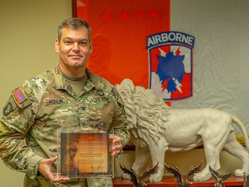 Army Col. Matthew Foulk was relieved of his position as commander of the 35th Signal Brigade on Monday, May 17, 2021, following an investigation of personal misconduct. (35th Signal Brigade/Facebook)