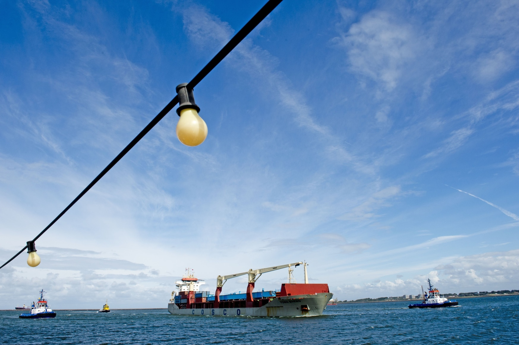 A Chinese cargo ship arrives at the haven of Rotterdam on Sept. 10, 2013. The Yong Sheng was the first commercial Chinese ship to transit through the Northern Sea Route, which connects the Atlantic and Pacific oceans by way of the Bering Strait and Russia's northern coast. (Robin Utrecht/AFP via Getty Images)