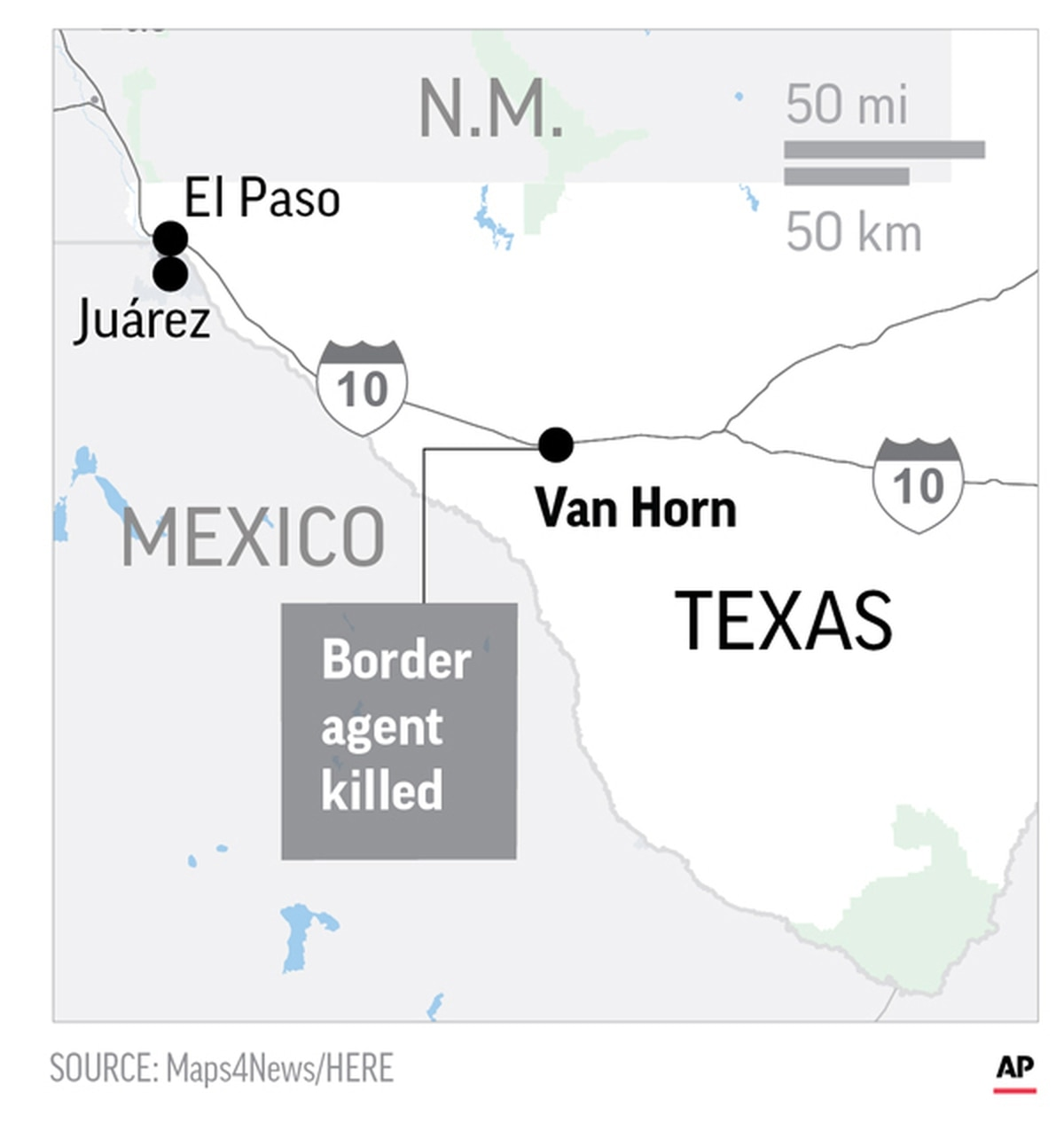 Authorities believe border agent may have fallen to his death