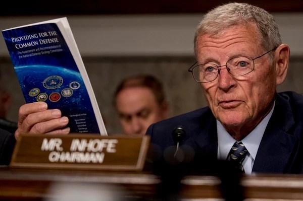 Sen. Jim Inhofe, R-Okla., says the NNSA's FY21 budget