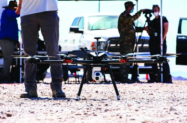 A TAROT drone conducts a practice run during the Project Convergence capstone event at Yuma Proving Ground, Ariz. (Spc. Carlos Cuebas Fantauzzi/U.S. Army)