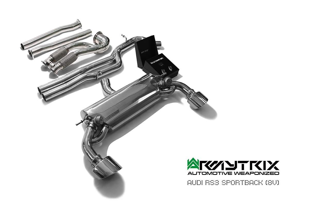 audi rs3 8v sportback armytrix exhaust