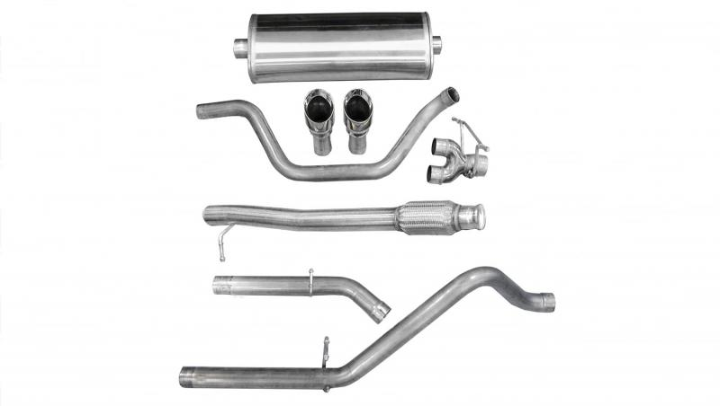Corsa Performance 3.0in. Cat-Back; Dual Rear Exit with