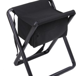 Chair Stool Black White Egg Deluxe Folding With Storage Pouch