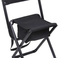 Chair Stool Black All Weather Wicker Patio Swivel Rocking Deluxe Folding With Storage Pouch