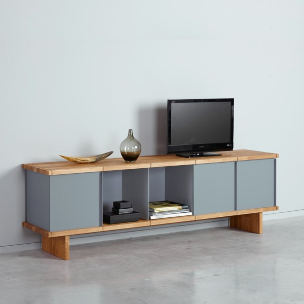 meuble tv design chene gris