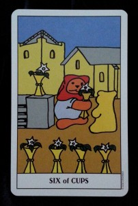 Six of Cups from the Gummy Bear Tarot