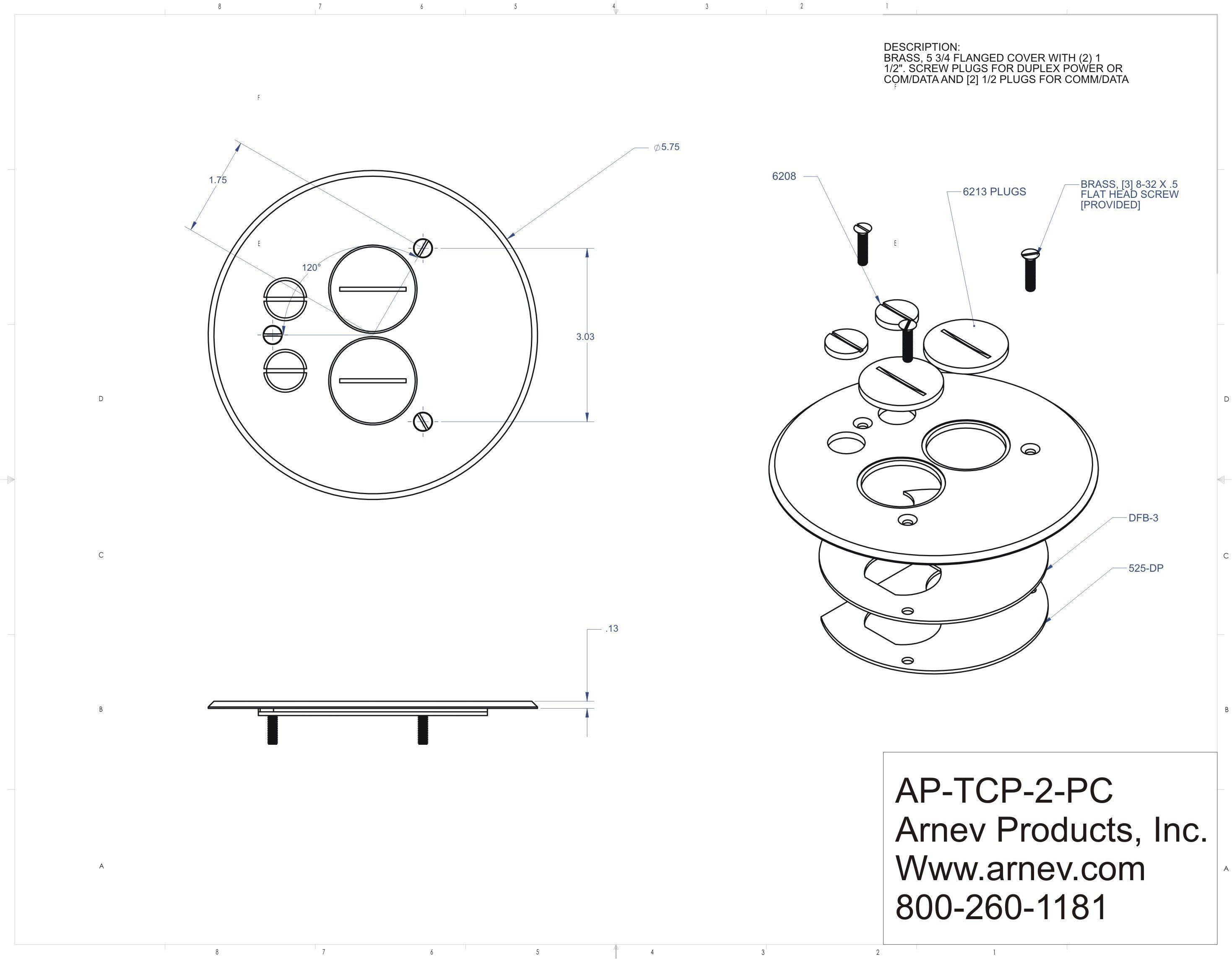 Ap Tcp 2 Pc Floor Box Cover