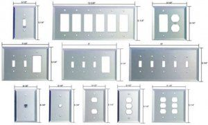real glass mirrored switchplates