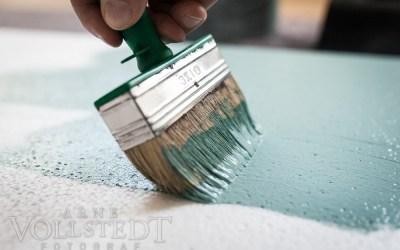 Frisch gestrichen – Studiostyropor für Hintergründe