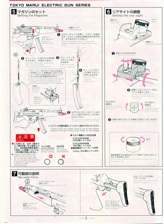 Tokyo Marui MP5 a4/a5 Manual