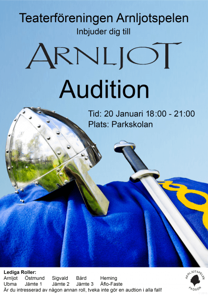 Audition Plats: Parkskolan Tid: 20 januari, 18:00 - 21:00