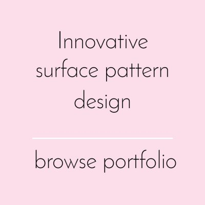 Surface pattern design - browse portfolio