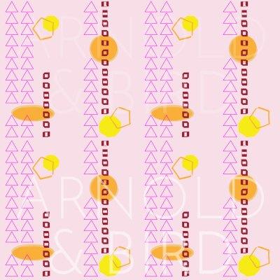 Geometric shaped stripe - surface pattern design repeat