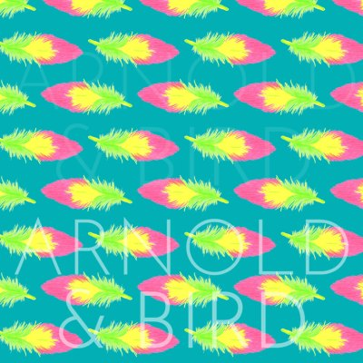 Tropical feather surface pattern repeat design