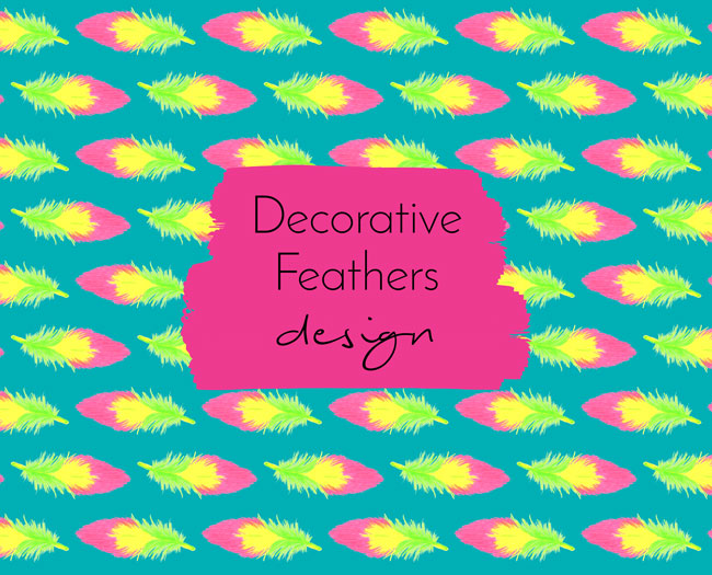 Decorative feather trend design - Arnold & Bird