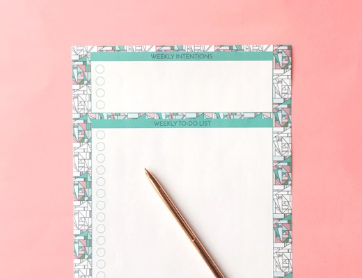 Free Printable Weekly intentions To-Do List by Arnold & Bird
