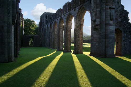 Shadows, Llanthony Priory, Wales