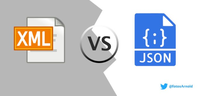 xml json ventajas servicio web