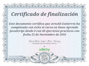arnold gutierrez certificacion java script