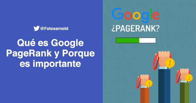 importancia pagerank de google