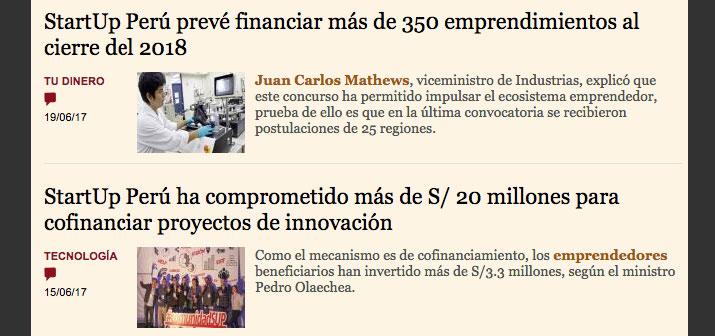 invertir seo startup peruanas