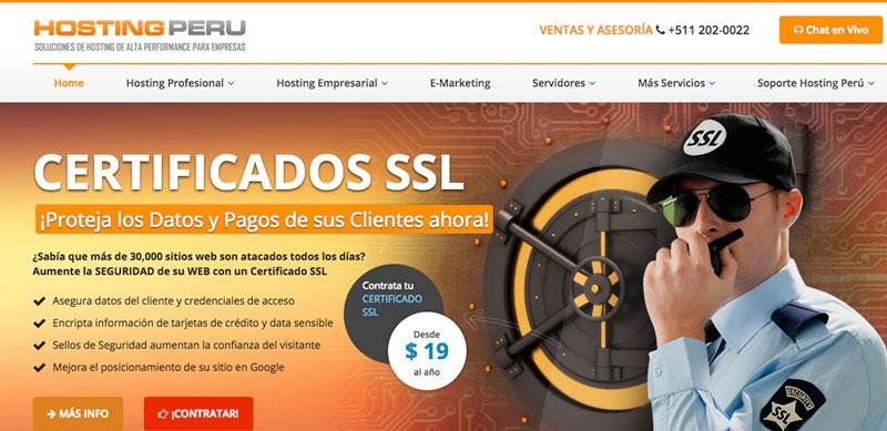 hosting peru proveedores hosting