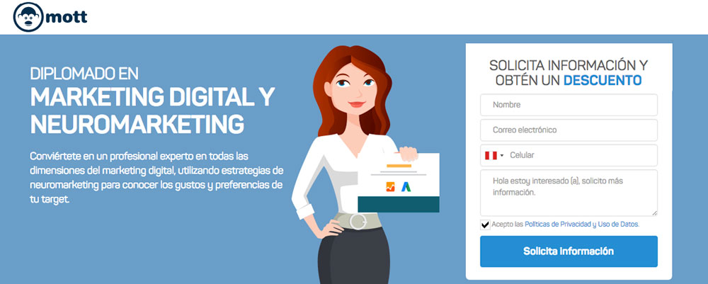 diplomado marketing digital neuromarketing mott peru
