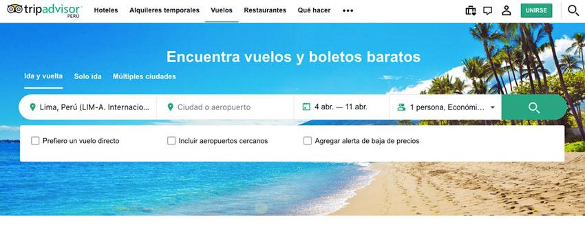pasajes aereos baratos tripadvisor.com.pe