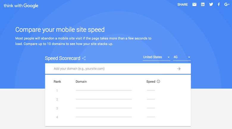 google speed scorecard herramientas google